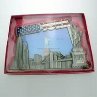Custom made wholesales metal zinc alloy New York city picture frame