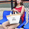 Fashion design milky gold canvas handbag for ladies sling shoulder bag