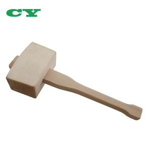 Solid Head With Angled Striking Faces Beech Wood Mallet For Woodworking Chisels