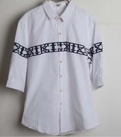 3/4 sleeve men club wear shirt vintage style shirts