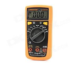 LODESTAR LD3803B Palm Size Automatic Measurement Digital Multimeter w/ Buzz + Backlight - Yellow