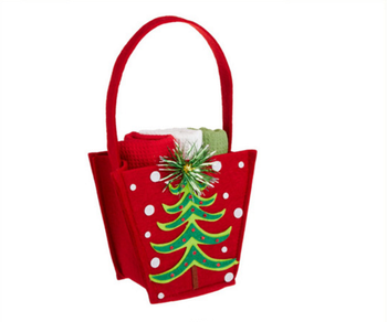 eco friendly handmade cute wool felt hanging bagfelt gift bag wholesale cute felt christmas