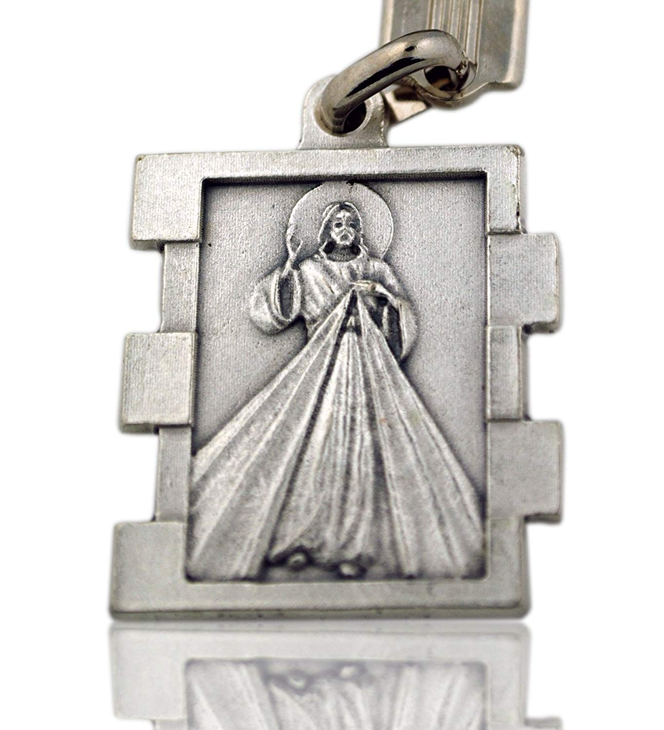 Italian Saint Keychain Divine Mercy, St. Christopher, St. Michael, Miraculous Mary, Sacred Heart of Jesus, st. Gerard, Guardian Angel