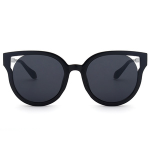 Latest Fashion Cat Eye Frame Round Glasses Polarized Lenses Shades Sunglasses