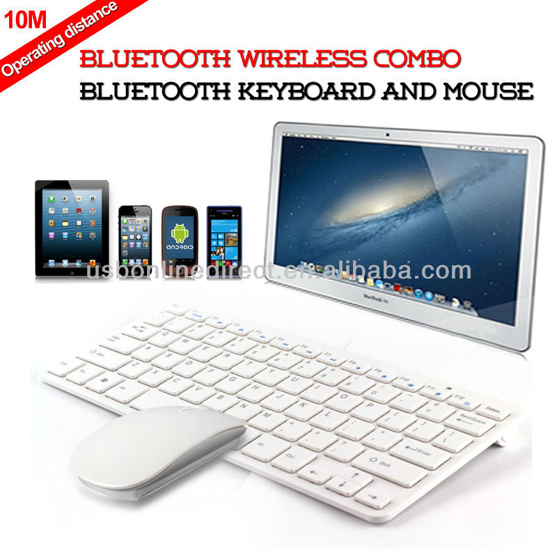 Bluetooth V4.0 combo wireless bluetooth keyboards and mouse for ipod smartphone tablet