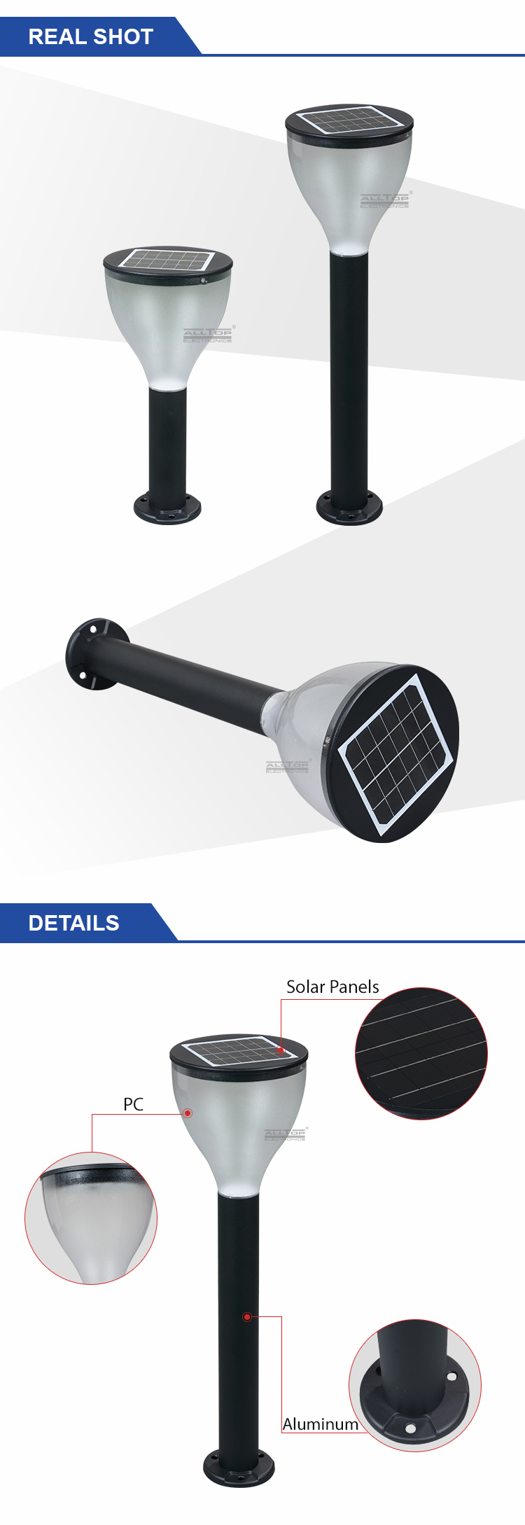 ALLTOP solar street light post-11