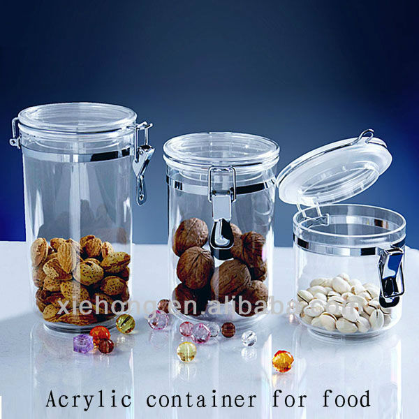 Acrylic Food Storage Containers Part - 45: Acrylic Canister, Acrylic Canister Suppliers And Manufacturers At  Alibaba.com