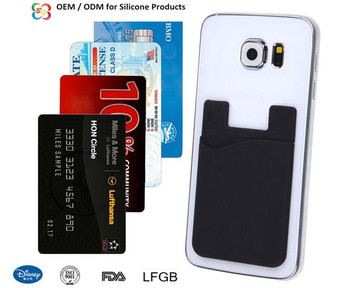 Hot selling silicone credit card holderbusiness card holder hot selling silicone credit card holder business card holder cellphone sticker card holder colourmoves