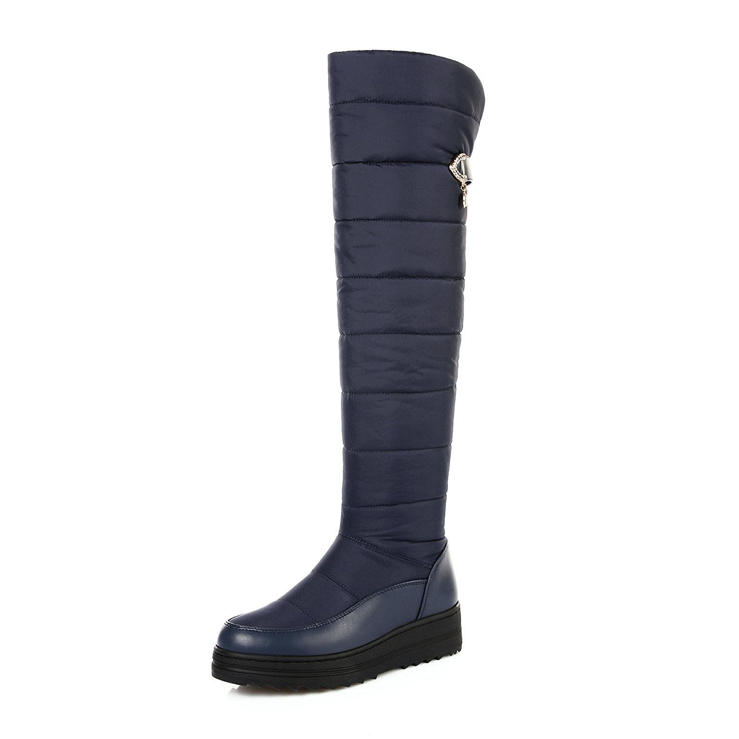 082518bea Get Quotations · CHENSIR9 Women Long Warm Snow Boots Black Over The Knee Boots  Womens Thigh High Boots Platform