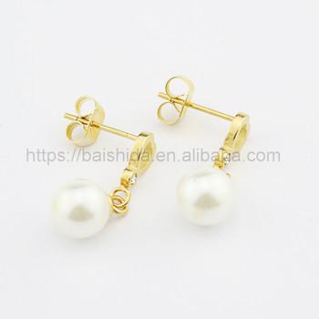 2017 Fashion Earring Designs New Model Earrings Gold Plated Pendant