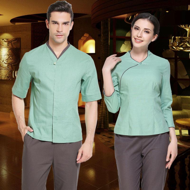 Mens spa uniforms promotion shop for promotional mens spa for Baju uniform spa
