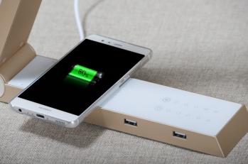 Qi Беспроводная зарядная настольная лампа Dimming С USB-портом можно заряжать телефон