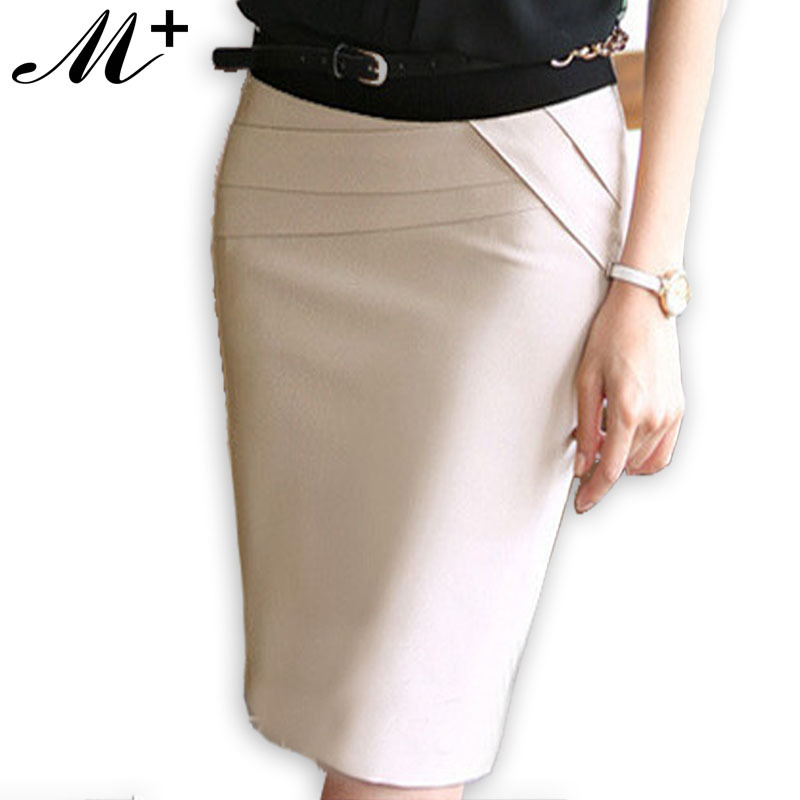 877c33050 Get Quotations · Women Business Knee-Length Skirts Solid Daily Formal Pencil  Skirts High Waist Women Summer OL