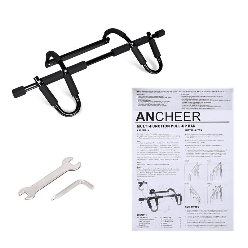 Arm Wrist Strengthen Flex Twister Bar / Home and Gym Fitness Equipment / Total Upper Body WorkOut Chin Up for Doorway