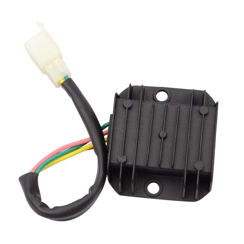 GOOFIT 4 Pin Voltage Regulator for GY6 150cc and CG 125cc 150cc 200cc 250cc  Vertical Engine