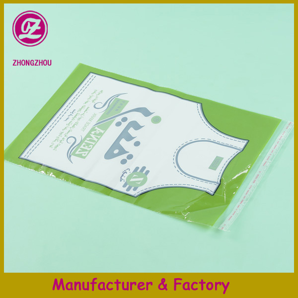 custom small opp bag with printed header for bread food packing