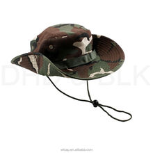 Boonie hunting fishing outdoor men cap washed cotton bucket hat with strings