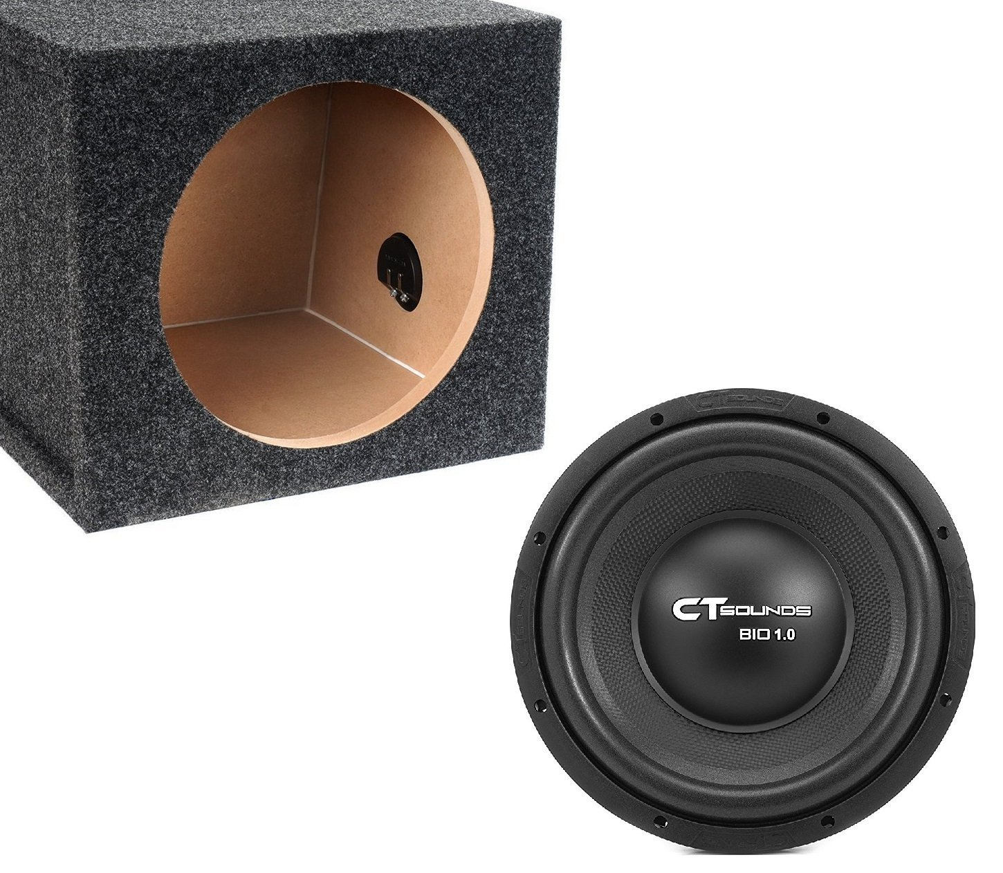12 Inch Car Subwoofer Bass Package with Box by CT Sounds