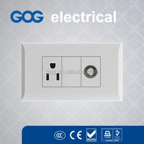 Logo Imprint outdoor electrical wall switch prices, american double tel socket