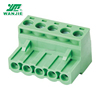 WANJIE Stable and professional electric pluggable terminal block 5.0mm 5.08mm pitch