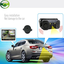 2016 New 2 in 1 Sound Alarm Parking Assistant System Radar Detector Sensor with CCD HD Car Reverse Backup LED Rear View Camera