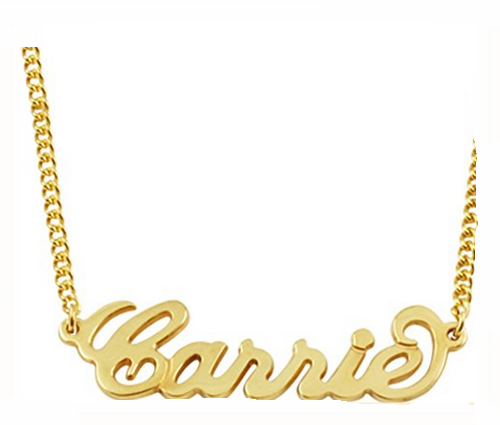 Any Personalized Name Necklace personalised 18k Gold over Stainless steel Custom Made Any Name