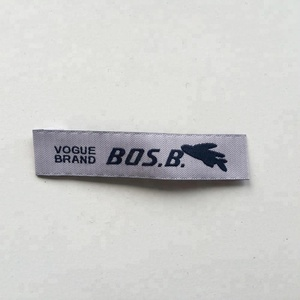 2019 high quality No MOQ direct factory cheap wholesale hot sale business wear customized clothes brand woven labels