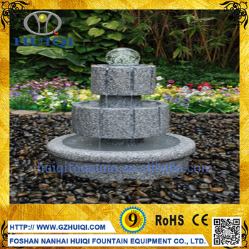 Chinese Garden Decor Outdoor Water Natural Stone 3 Tier Fountain Price