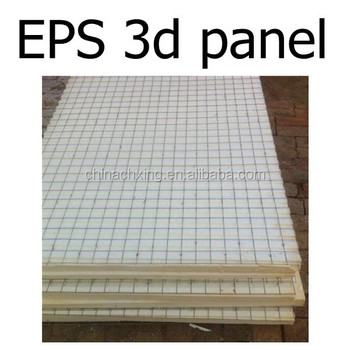 Eps 3d weld wire mesh foam panels cheap building materials for Foam panel house