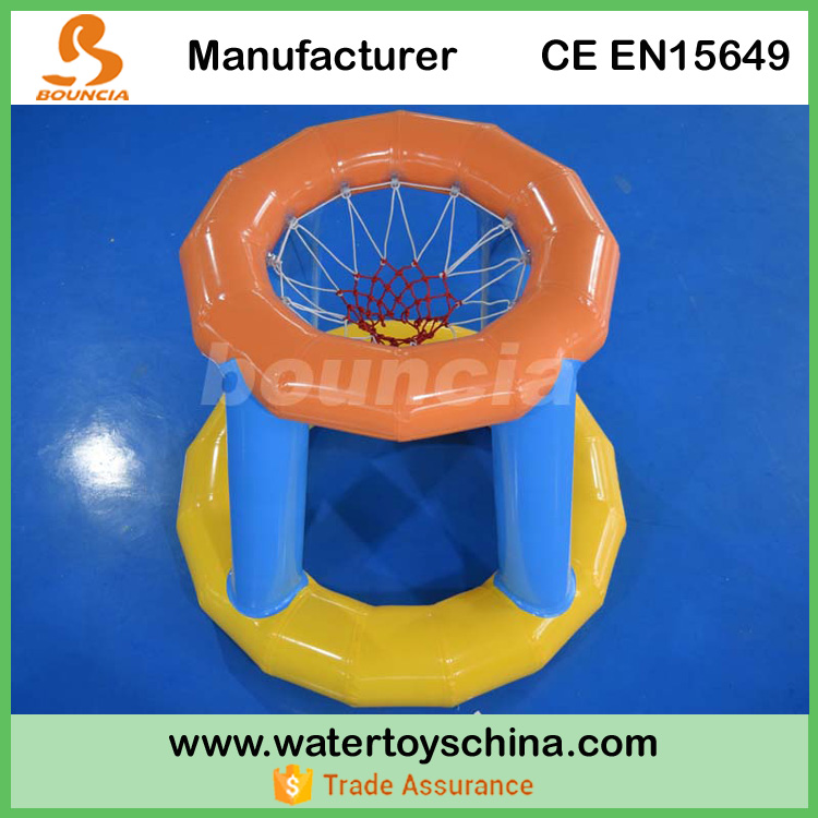 Removable Inflatable Basketball Court / Water Toy Basketball Goal For Water Games