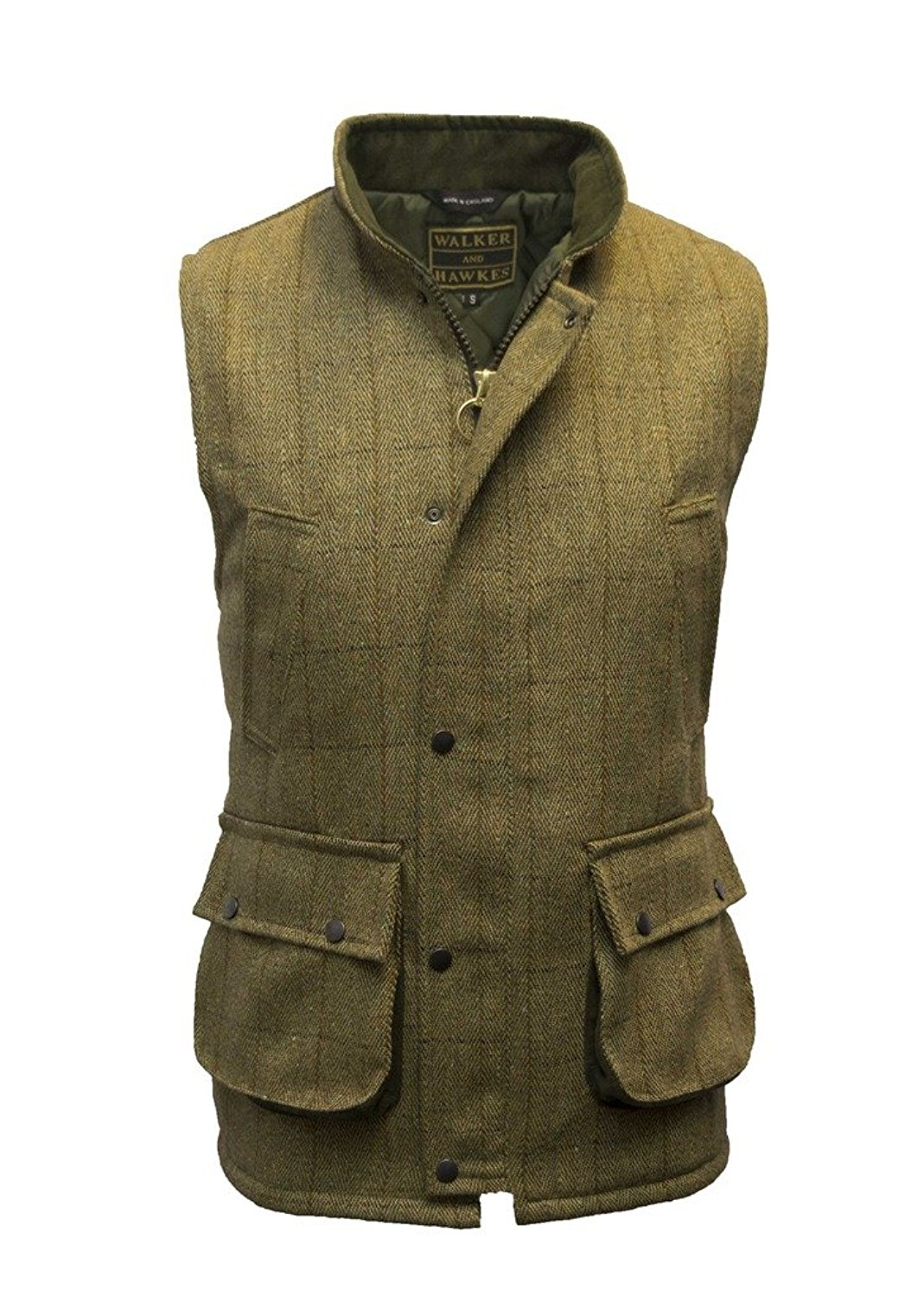 837f3fbc Get Quotations · Walker and Hawkes Men's Derby Tweed Shooting Waistcoat  Country Gilet