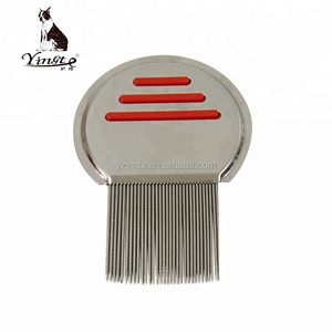 Amazon hot sale metal nit comb stainless steel head lice comb teeth