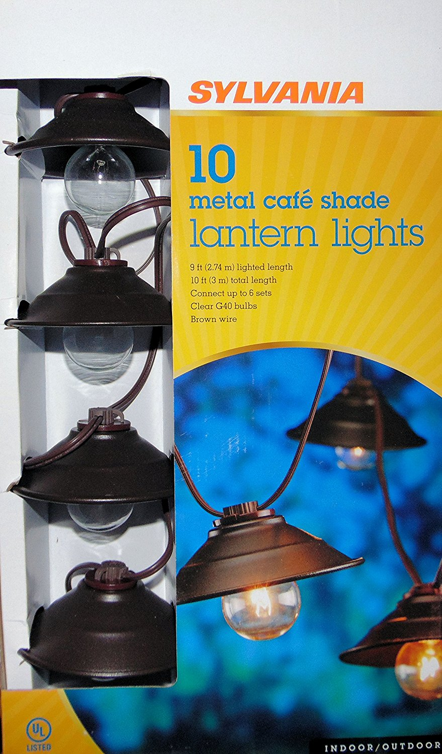 Cheap Cafe String Find Deals On Line At Alibabacom Wiring Up A Emergency Light Get Quotations Sylvania Of Metal Shade Lantern Lights V87116 87