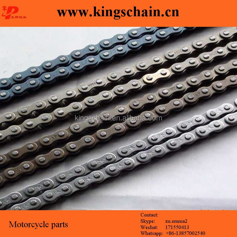 Chinese reinforced high performance yellow nature blue black 520 motorcycle drive chain