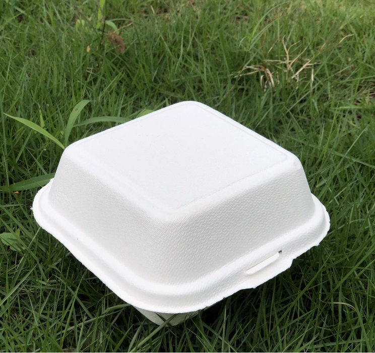 custom foldable cheap any size food bagasse kraft large paper packaging burger box/bowl/plate/tray
