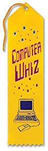 "Computer Whiz Award Ribbon (6 Pieces) - Computer Whiz Award Ribbonsize: 2"" X 8""Theme: Educationaltype: Award Ribbons"