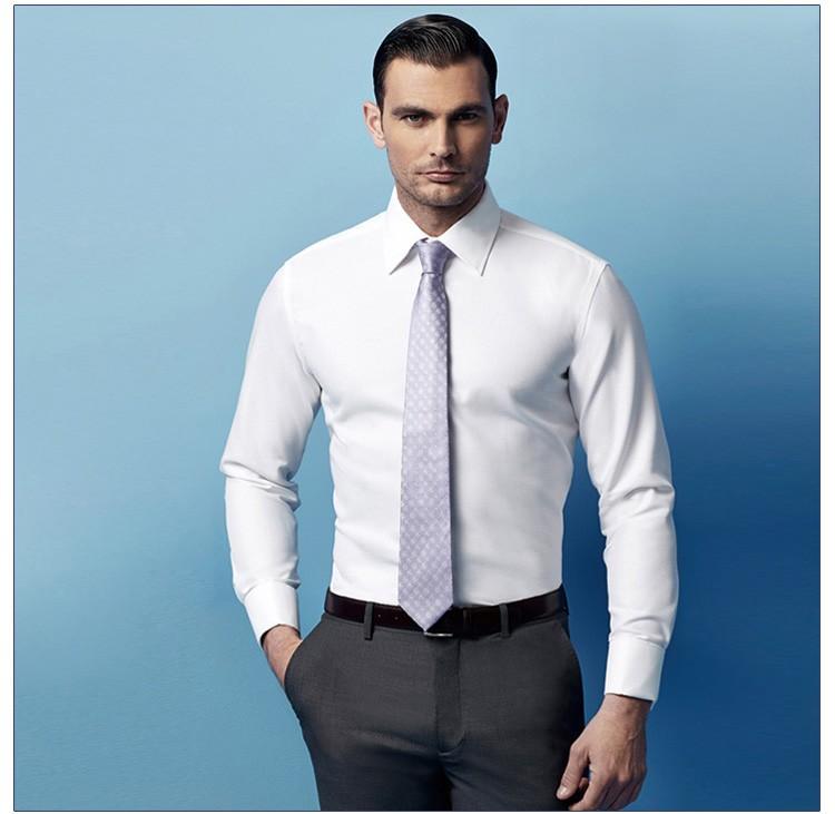 Business man white shirt custom designs for men formal for Business shirts for men