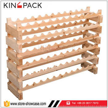 High End Customized Wooden Wine Storage Racks For Sale For Retail