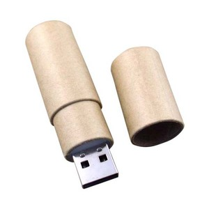 logo printing cardboard paper usb 2.0 cylinder paper material usb drive