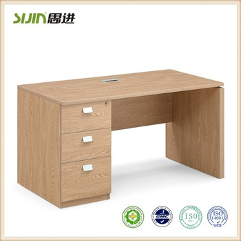 Iso Standard Wooden Office Computer Table Size Design