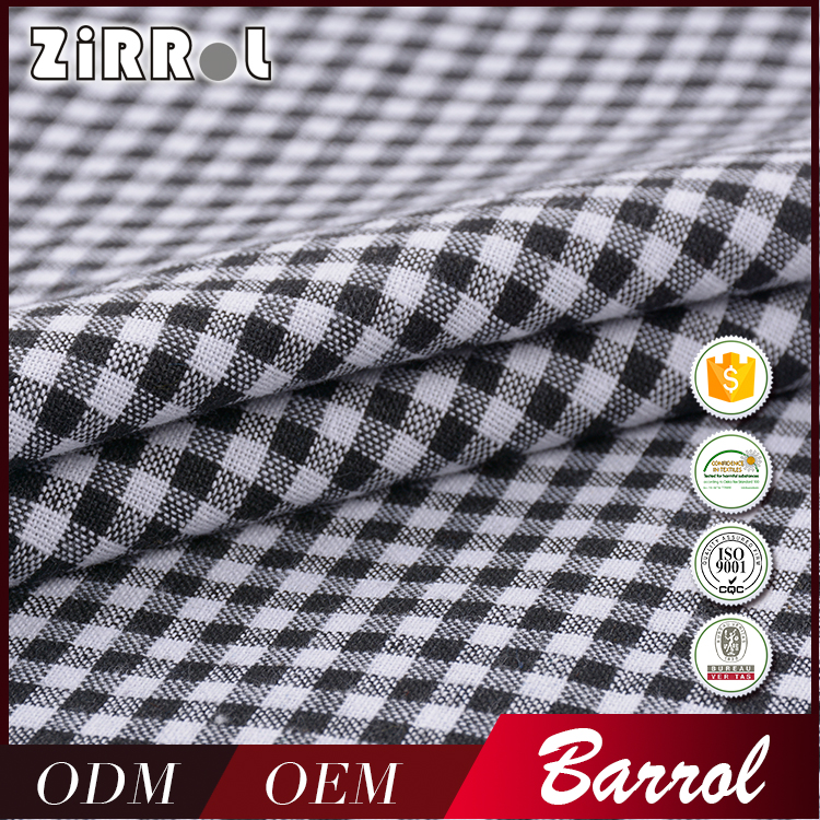 Cheap price High quality yarn print bulk cotton shirt fabric
