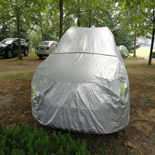 Aluminum film universial inflatable car cover protect from snow.sun.dust