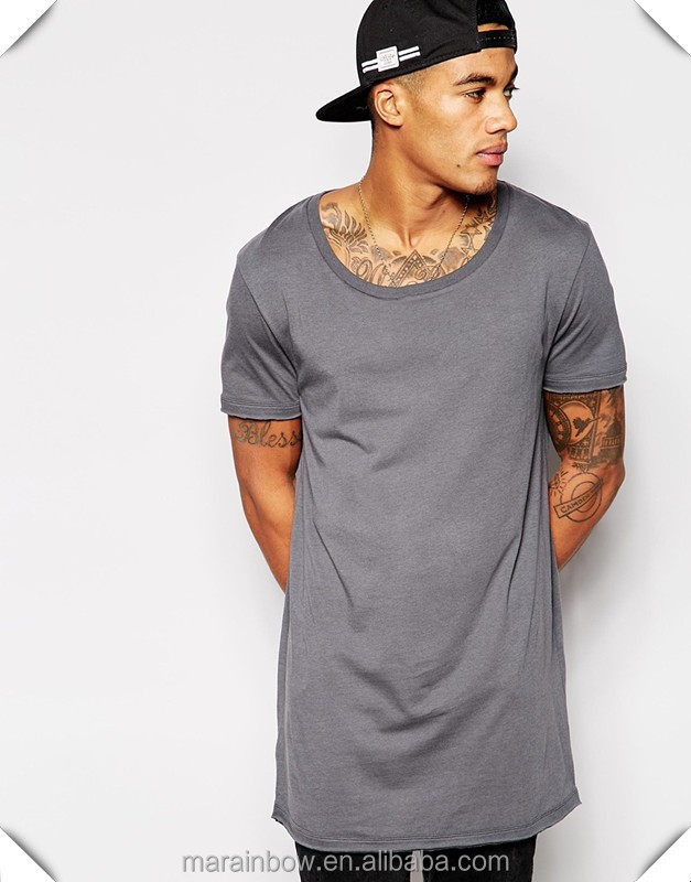 where to buy authentic quality store Hot Sale Mens 100% Polyester Dry Fit Short Sleeve Longline T ...