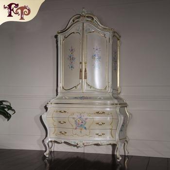 European Furniture Royalty Hand Craft Leaf Gilding Wardrobe European  Antique Furniture Wedding Wardrobe