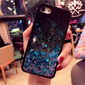 iphone 7 case black glitter