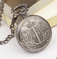 New BLACK BUTLER /KUROSHITSUJI Sebastian Dark Grey Pocket Watches