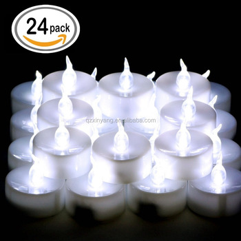 LED Tealight Operated By CR2032 / Amber Flickering LED Tea Light