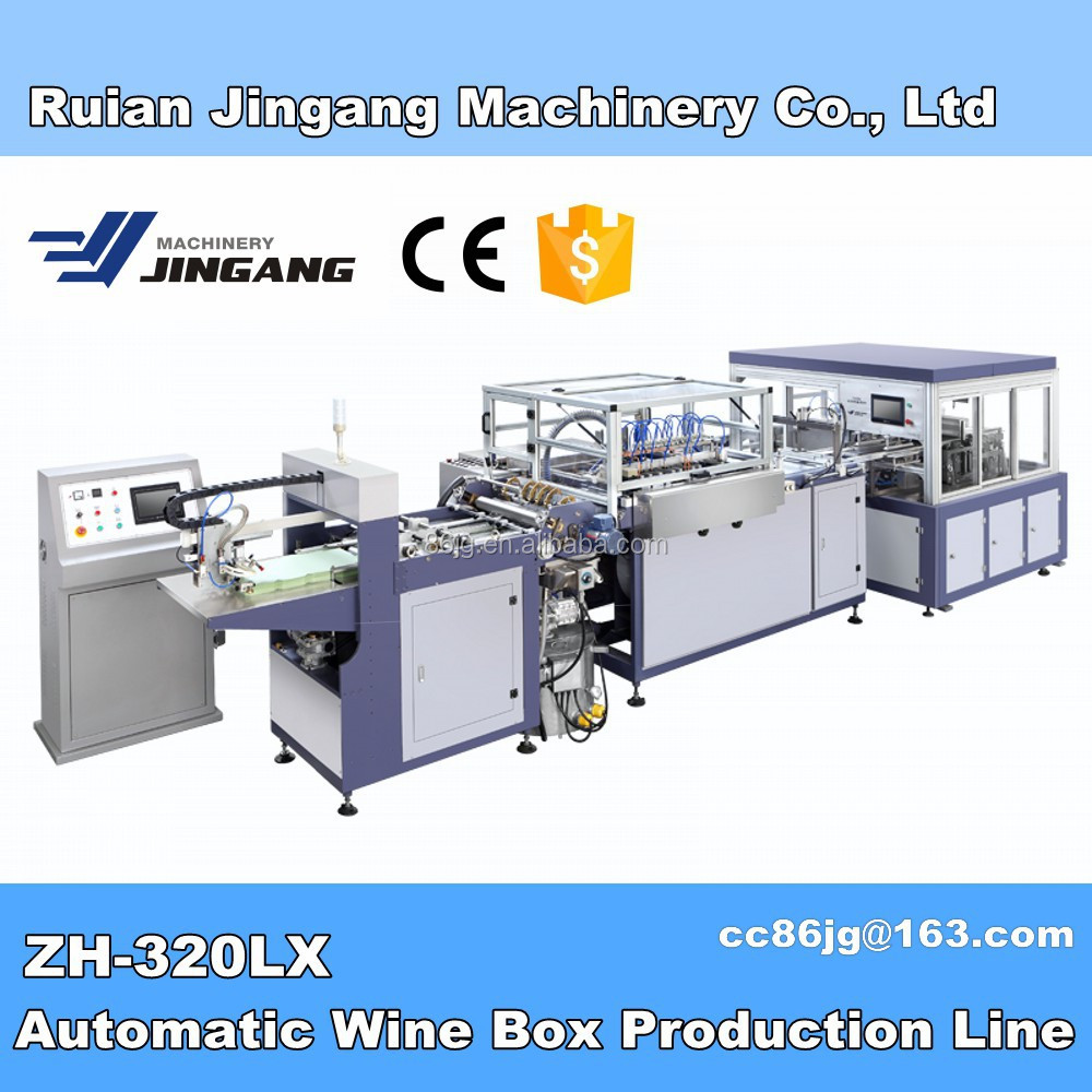 [Packaging Line] ZH-300 Automatic Carton Box Making Machine with good prices and saving manpower and raw material