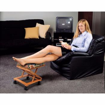 Floral U0026 Wood Adjustable Footstool   Comfortable Folding Foot Rest   Buy  Footstool Frames In Wood,Adjustable Footstool,Foot Rest Product On ...
