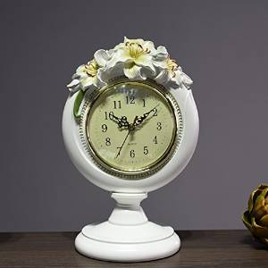 Halloween/Thanksgiving/Christmas/April Fools ' Day Gifts ,Holiday gifts, birthday gifts Day Gifts Retro style clock parlor ornaments Lily mute resin clock